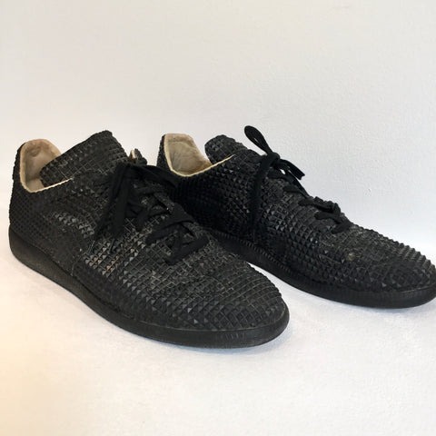 Black Leather/synthetic Mix Maison Martin Margiela Sneakers, Size 44
