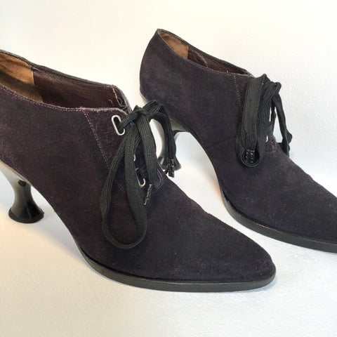 Midnight Purple Suede Jean Paul Gaultier pour Stephane Khelian Oxford Heels  Size 39