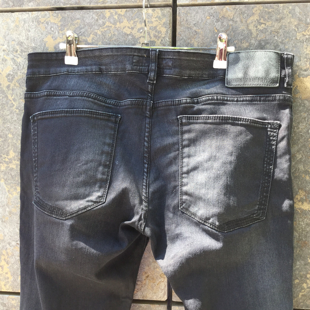 Black Denim Drykorn Slim Fit Jeans  Size 36