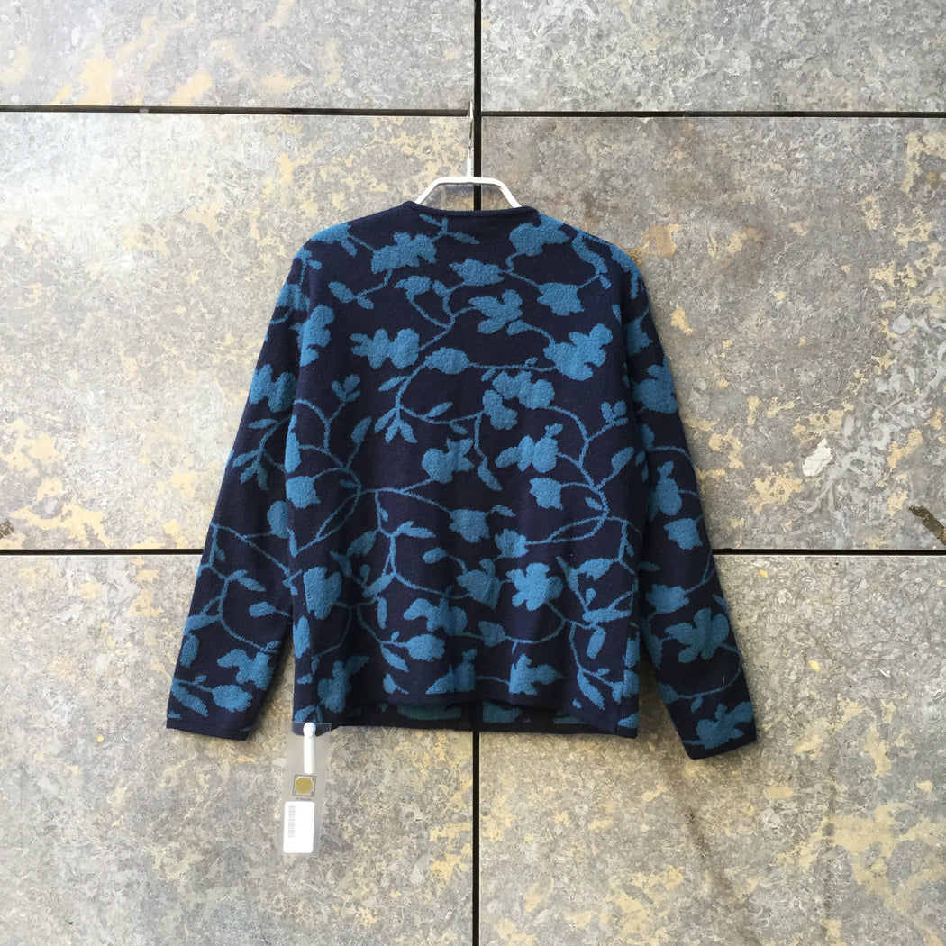 Denim Blue-Midnight Blue Cotton Vintage Sweater  Size S/M