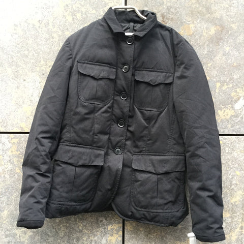 Black Down Moncler Light Coat Elbow Patch Size S/M