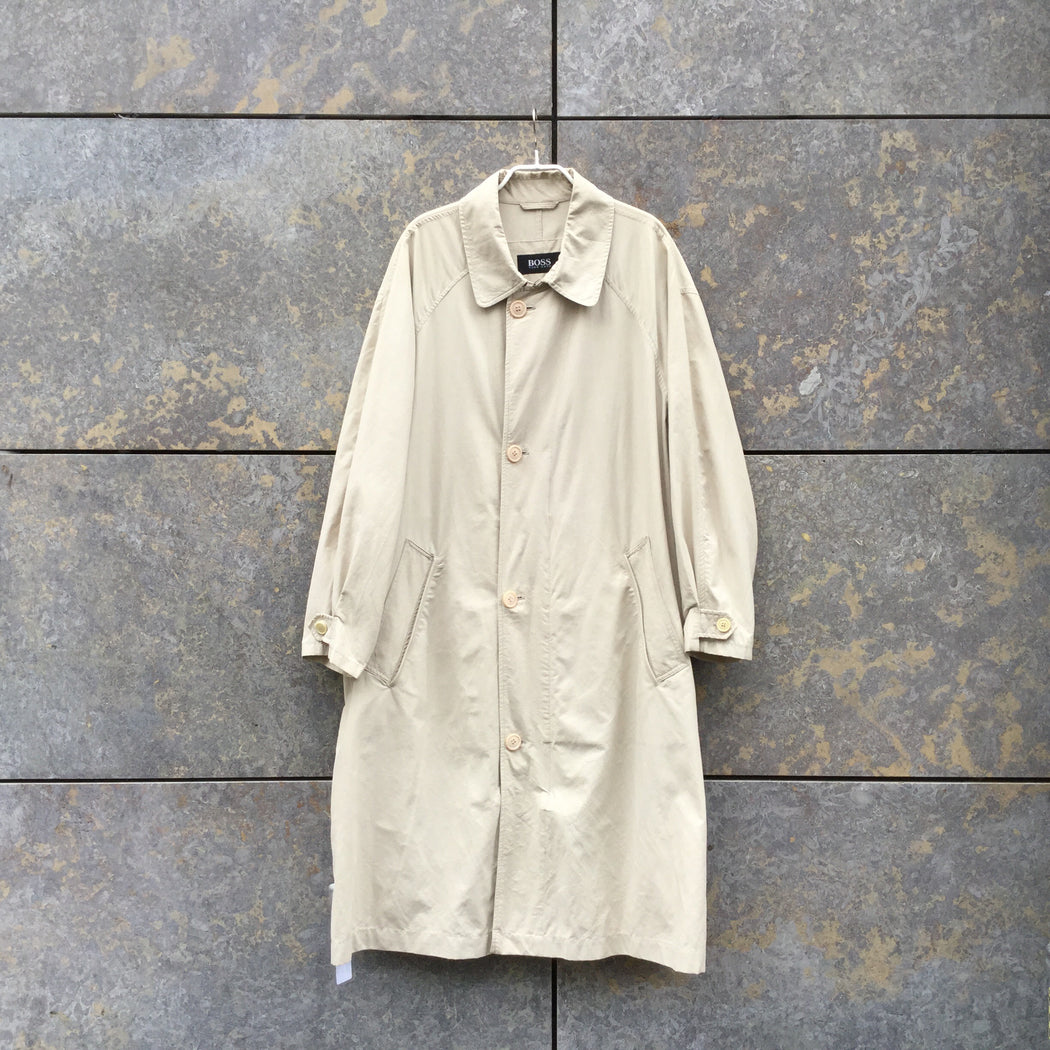 Beige Cotton / Poly Mix Hugo Boss Trench Coat  Size L