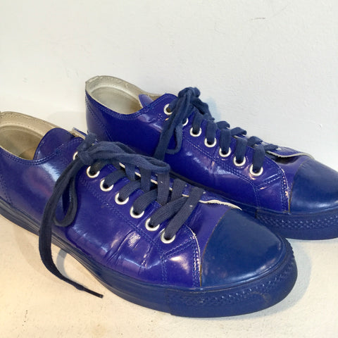 Deep Purple-Navy Leather/synthetic Mix Comme des Garcons x Junya Watanabe Sneakers  Size 43