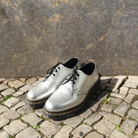 Silver Leather/synthetic Mix Dr. Martens Creepers  Size 42