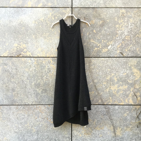 Black Wool Mix Y-3 Sweater Dress  Size XS/S