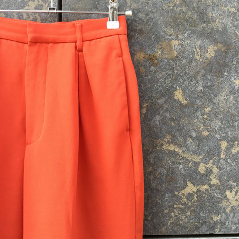 Red Rayon Uniqlo High Waist Pants Pleated Size 25/26