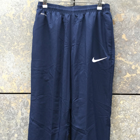 Midnight Blue-White Polyester Modern Nike Apparel Jogging Pants Stretch Waist Size 26/27