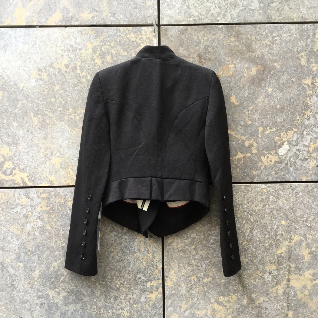Black Wool Mix Topshop Blazer Double Breasted Size S/M