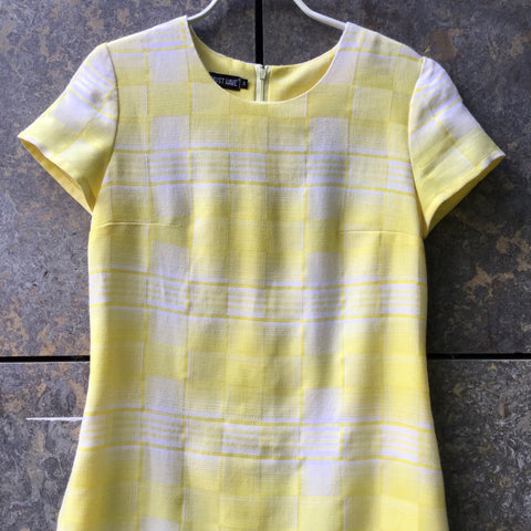 Yellow Polyester Mix Vintage Midi Dress  Size XS/S