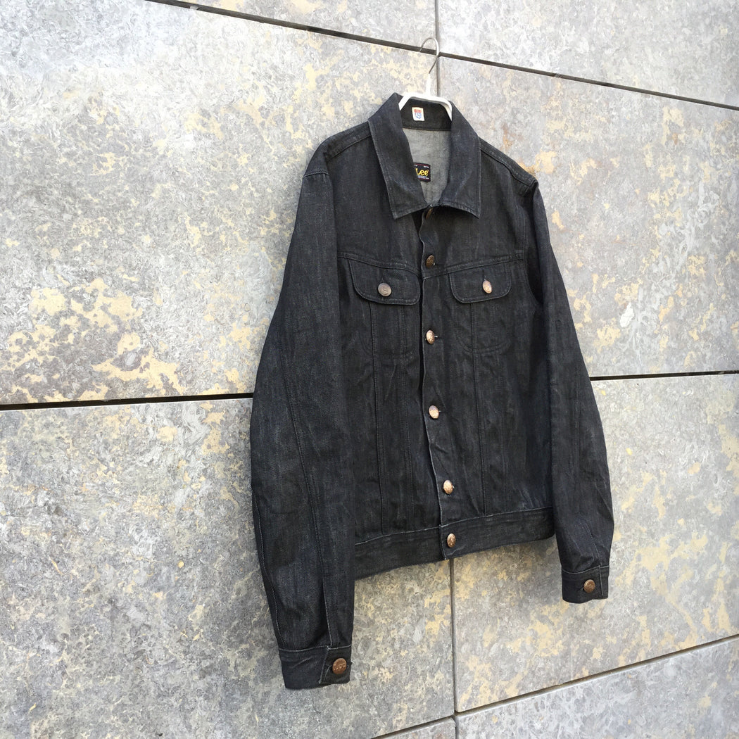 Black Denim Lee Jeans Jacket  Size M