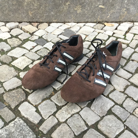 Brown Tone Mix Suede Y-3 Sneakers  Size 8.5
