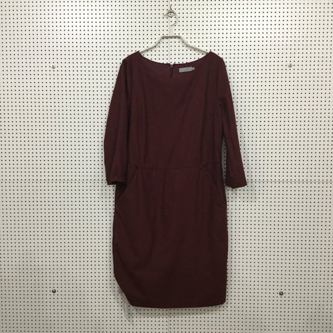 Red Berry Rayon COS Dress  Size M/L