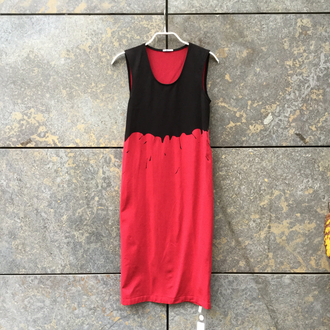 Black-Deep Red Polyester Modern Contemporary Main Body Con  Size S/M
