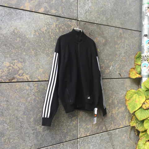 White-Black Polyester Modern Adidas Sweater  Size L/XL