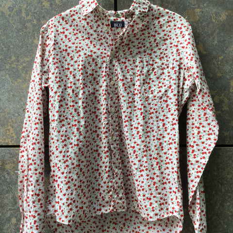 White-Red Cotton Aspesi Shirt
