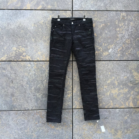 Faded Black Denim Isabel Marant Straight Fit Jeans  Size 32/33