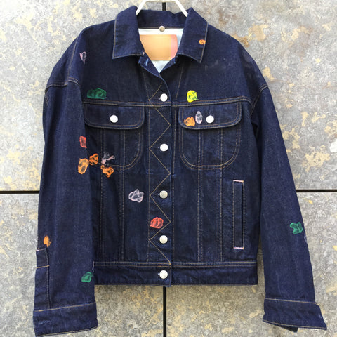 Midnight Blue-Colorful Denim Acne Studios ( Womens ) Jeans Jacket  Size S/M