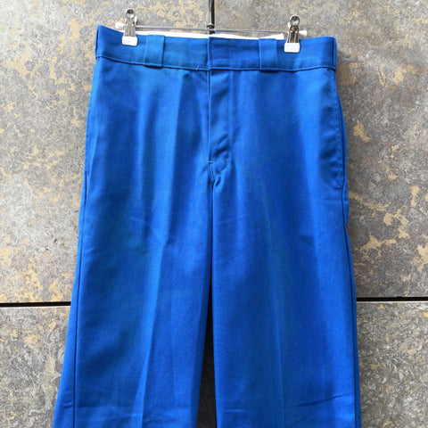 Royal Blue Cotton Dickies Trousers Straight Leg Size 30