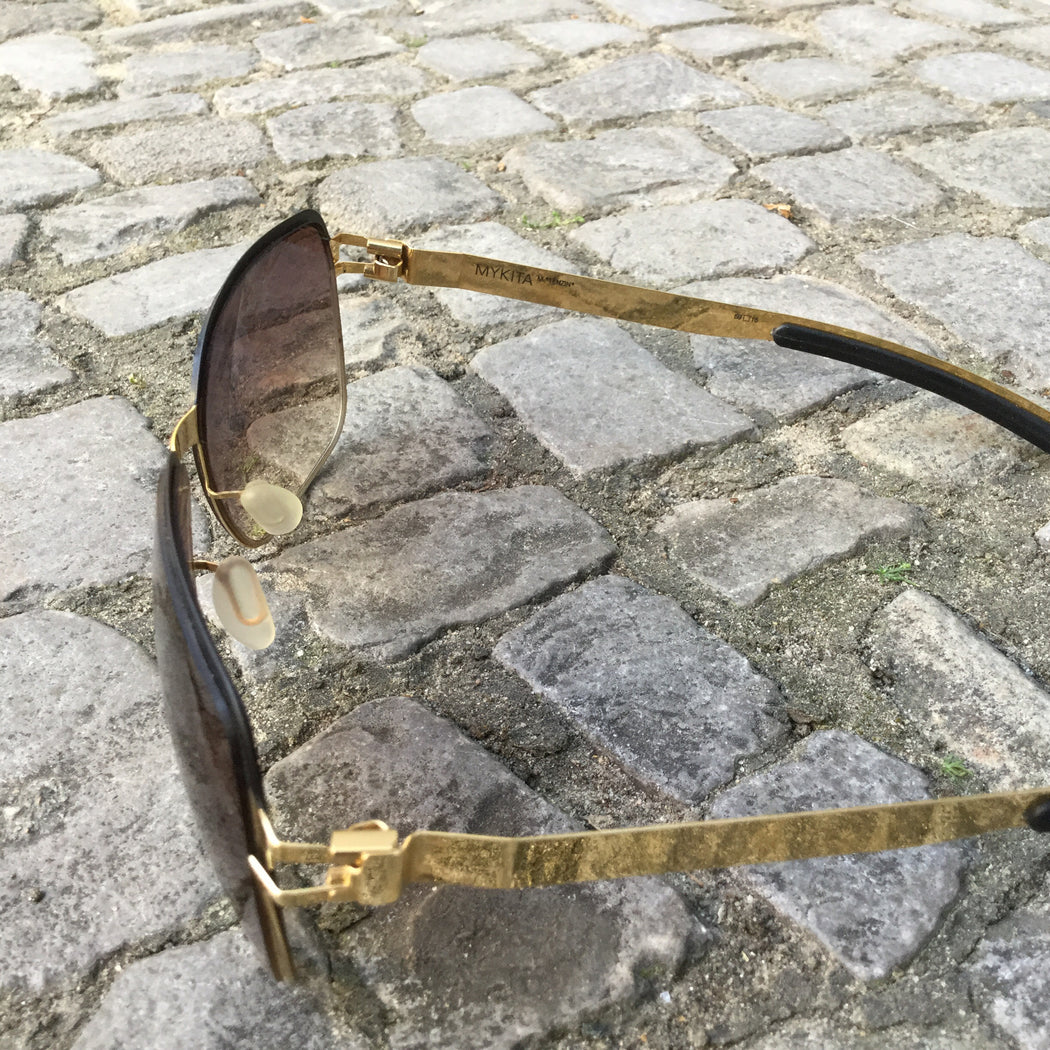 Black-Gold Synthetic Mykita Sunglasses  Size Os