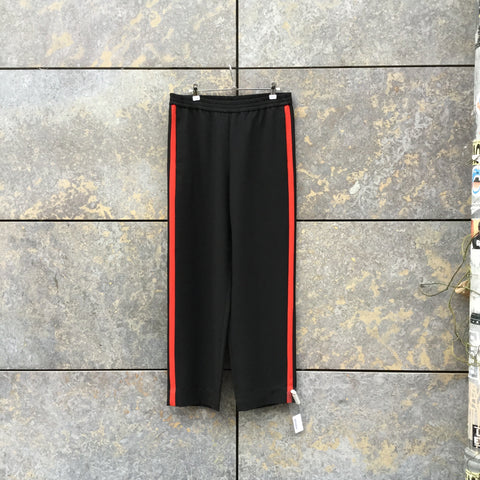 Navy-Red Polyester Mix Other Stories Jogging Pants Wide Leg Size M/L