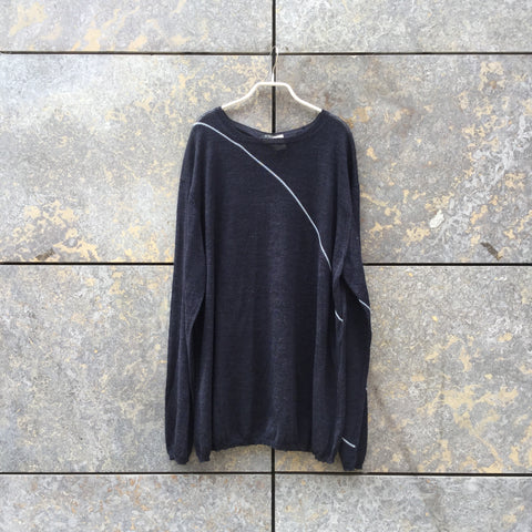 Midnight Blue-Light Blue Rayon Mix Y's Light Sweater  Size L/XL