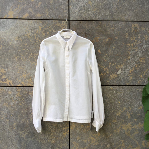 White Cotton Dries Van Noten Shirt Button Through Size M/L