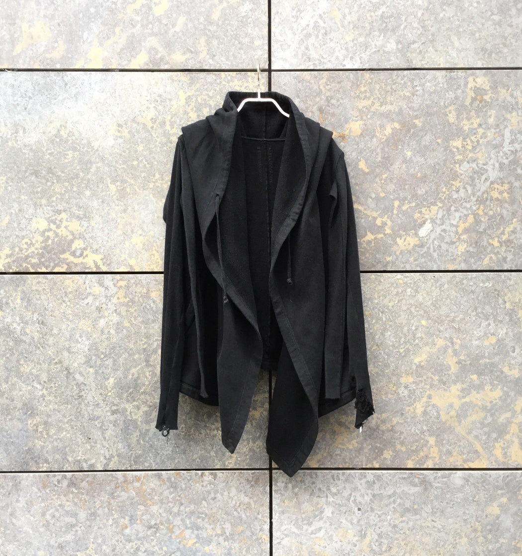 Black Cotton Drkshdw Hoodie  Oversized Size M/L