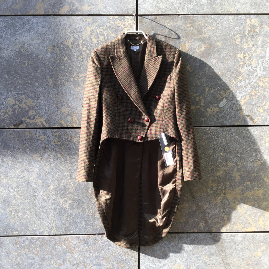 Brown-Dark Color Mix Wool Paul Smith Blazer Extended Size XS/S