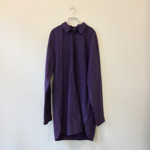 Deep Purple Cotton Maharishi Shirt Dress  Size M/L