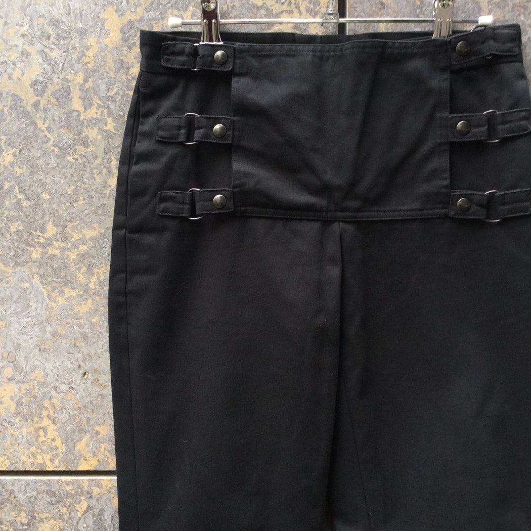 Black Cotton Vintage Helmut Lang Trousers Bell Bottom Size 26/27