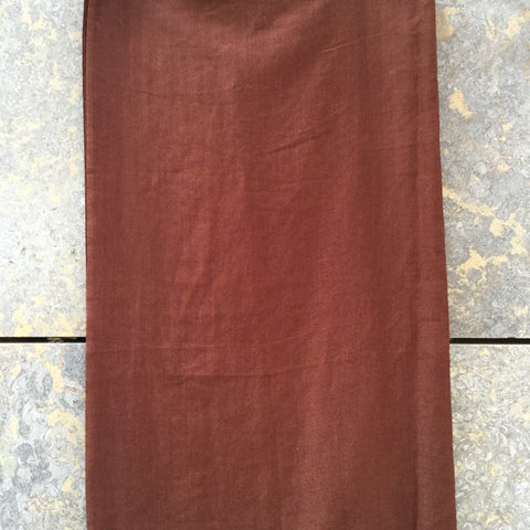 Chocolate Silk / Cashmere Mix Vintage Scarf