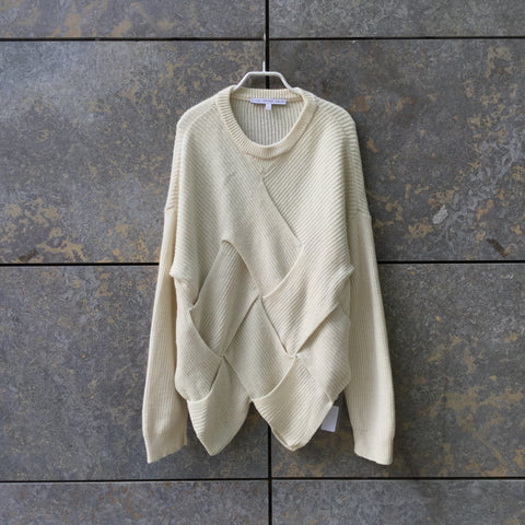 Straw Wool Mix Other Stories Sweater Conceptual Detail Size S/M
