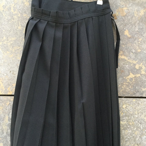 Black Polyester Modern Luna Storia Japan Maxi Skirt Conceptual Detail Pleated Size 26/27