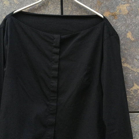 Black Cotton / Poly Mix Jil Sander Shirt  Size Xs/S