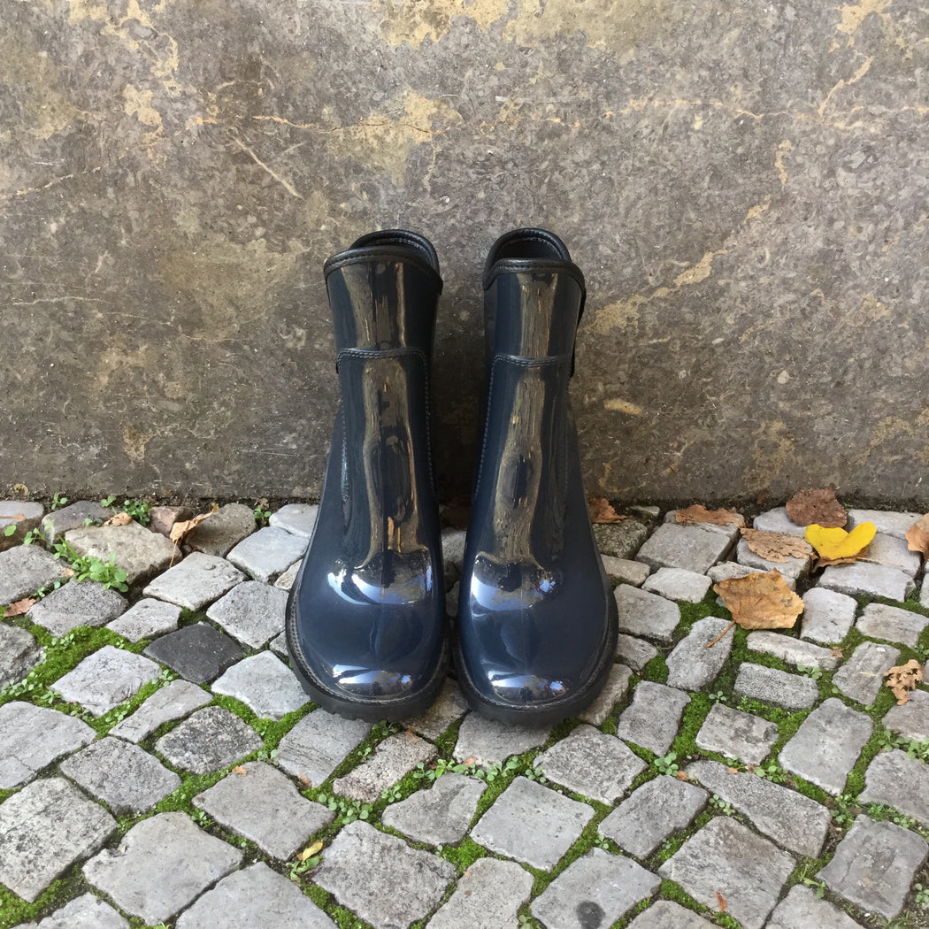 Navy Plastic Guess Jeans Boot Heels Waterproof Size 40