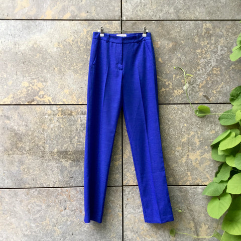 Royal Blue Polyester Mix Essentiel Antwerp Trousers  Size 26/27