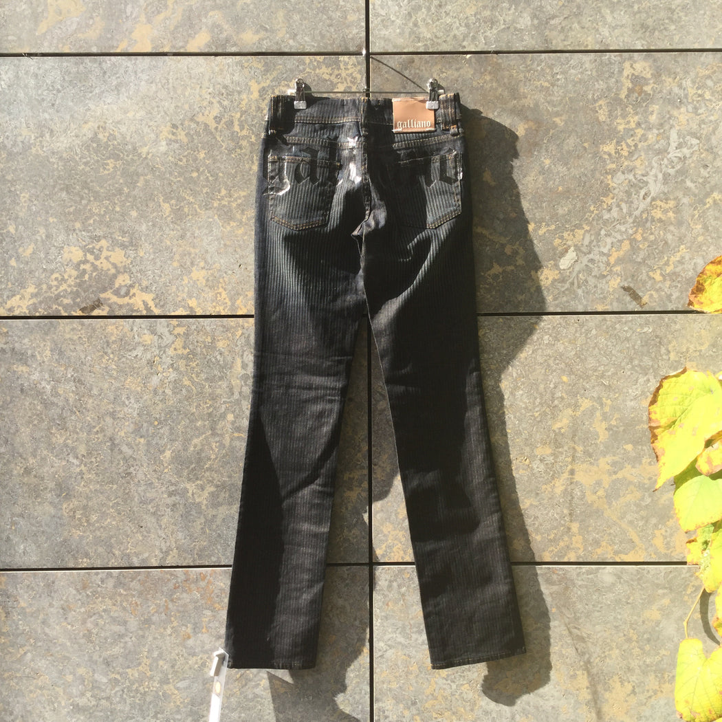 Navy-Black Denim John Galliano Jeans  Size 26/27