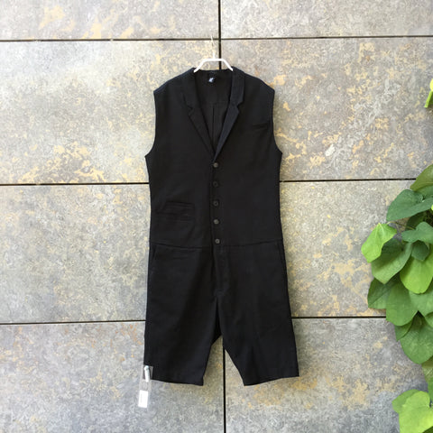 Black Cotton Independent Romper Sleeveless Size L/Xl