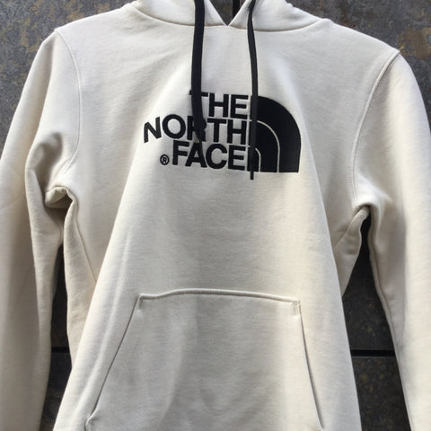 Beige-Black Cotton The North Face Hoodie  Size XS/S