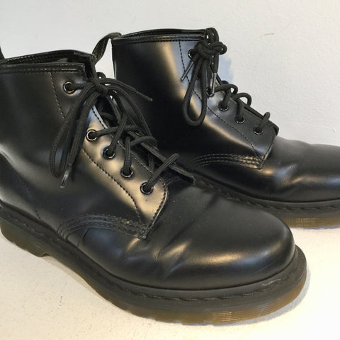 Black Leather Dr. Martens Combat Boots  Size 42