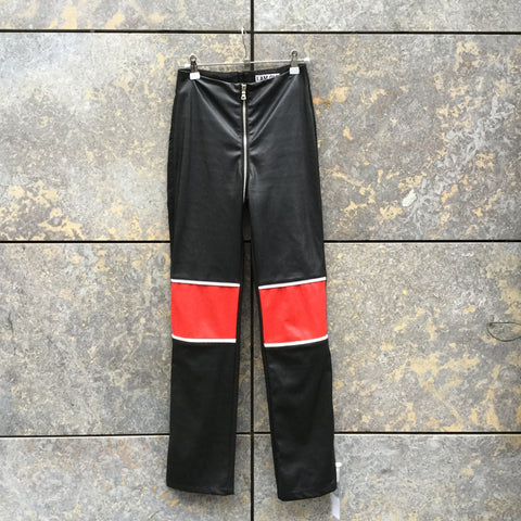 Black-Red Nylon I.AM.GIA Trousers  Size 26/27