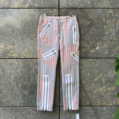 Tricolor Denim Chloé Straight Fit Jeans Zippered Size 26/27