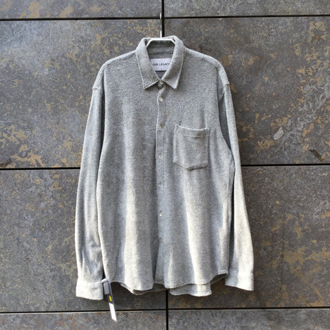 Morning Gray Cotton Our Legacy Shirt Fuzzy Size L/XL