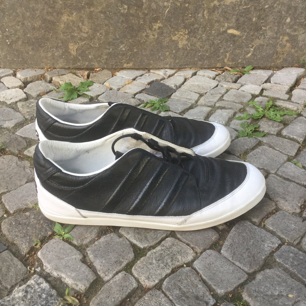 Black-White Faux Nappa Y-3 Sneakers  Size 42