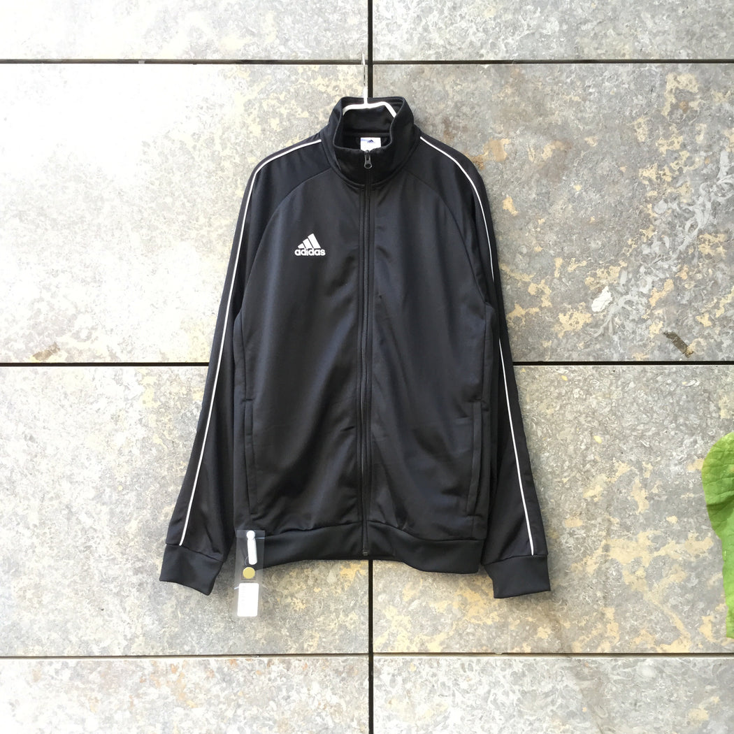 Black-White Polyester Modern Adidas Light Jacket Zippered Size M/L