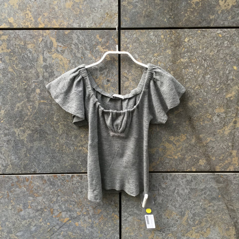Grey Wool Prada Top short sleeve  Size S/M