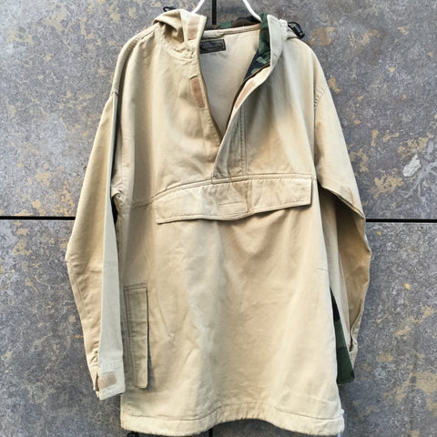 Straw Cotton Vintage Light Jacket Hoody Oversized Pocket Size M/L