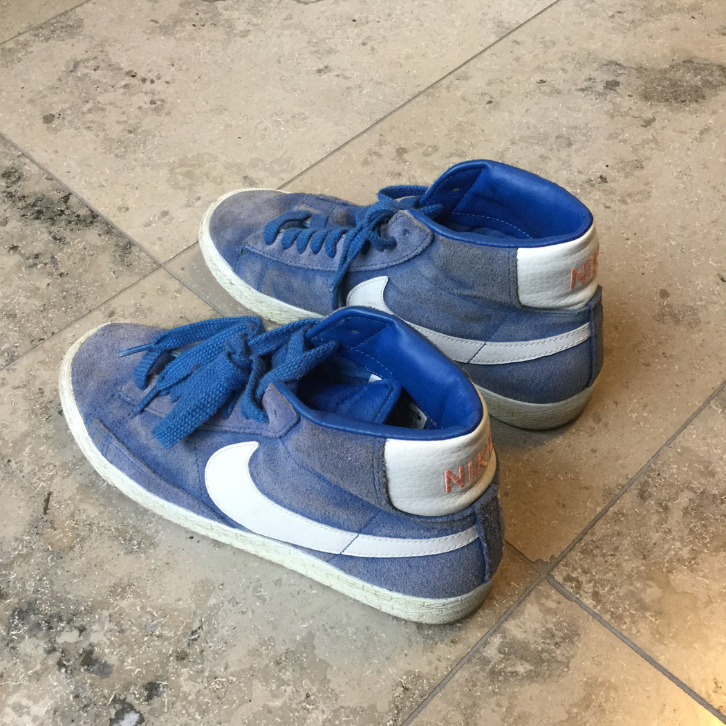 Heather Blue Leather Nike Shoes High-tops  Size 38