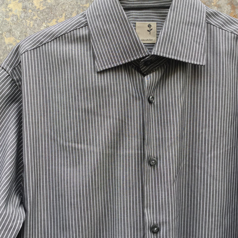 Grey-White Cotton Vintage Shirt  Size M