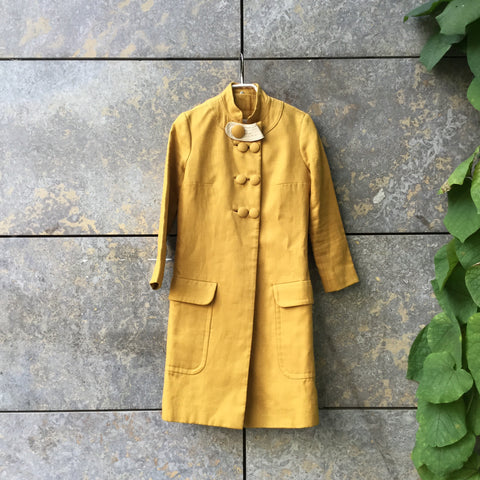 Mustard Wool Mix Chloé Light Coat  Size XS/S